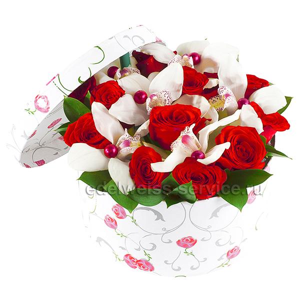 """""""Музыка души"""". Композиция орхидей и роз"""
